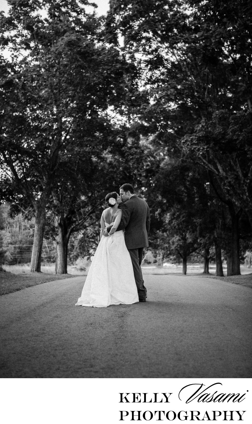 Wedding at The Garrison | Black & White Bridal Portrait