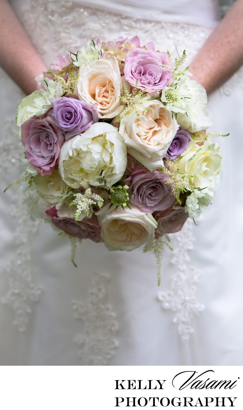 purple white wedding flowers white plains roses peonies