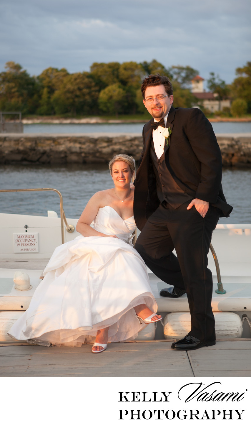 Dock and Boat Wedding Photos | Greenwich CT