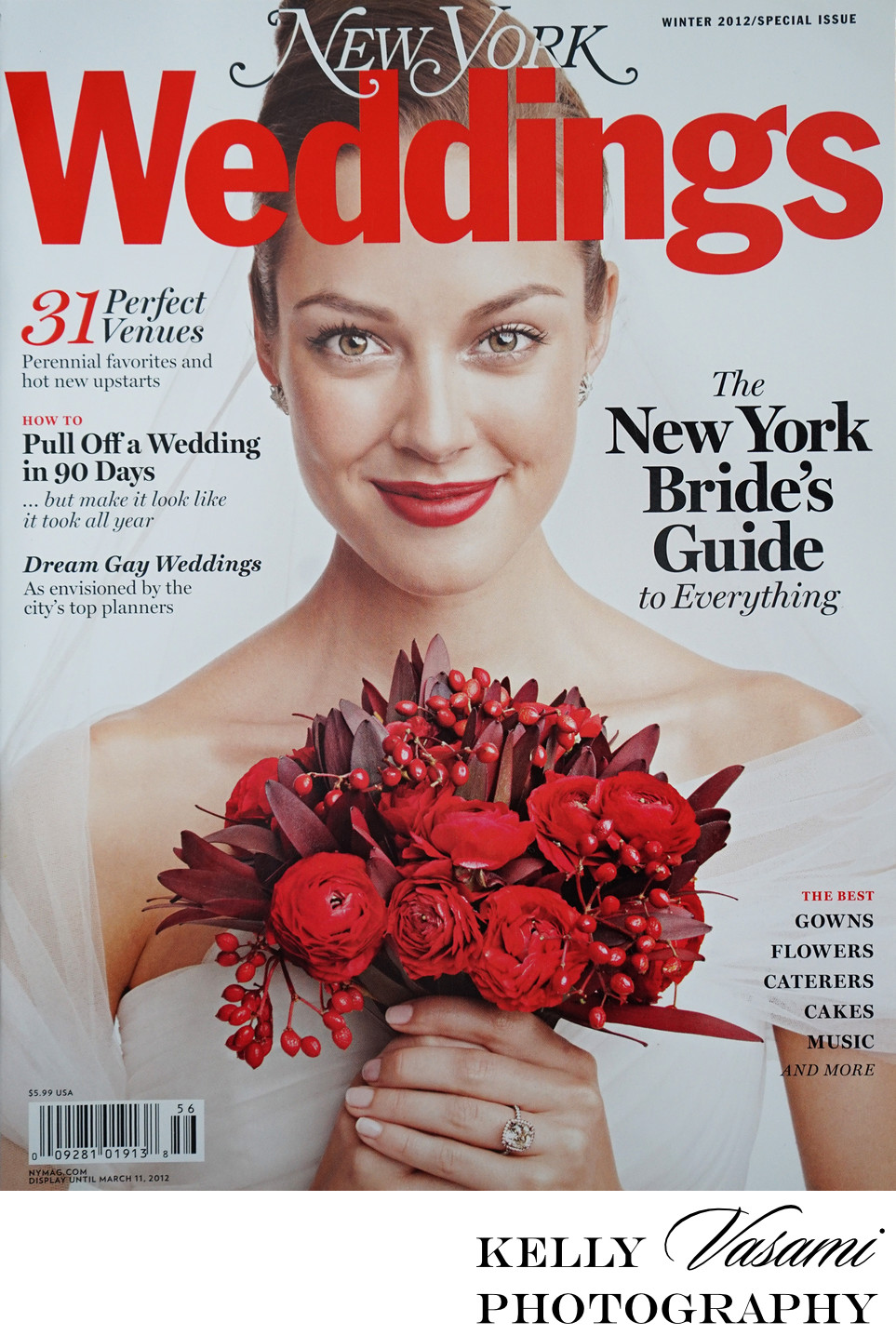 Cover of New York Weddings Magazine | Winter 2012 Issue