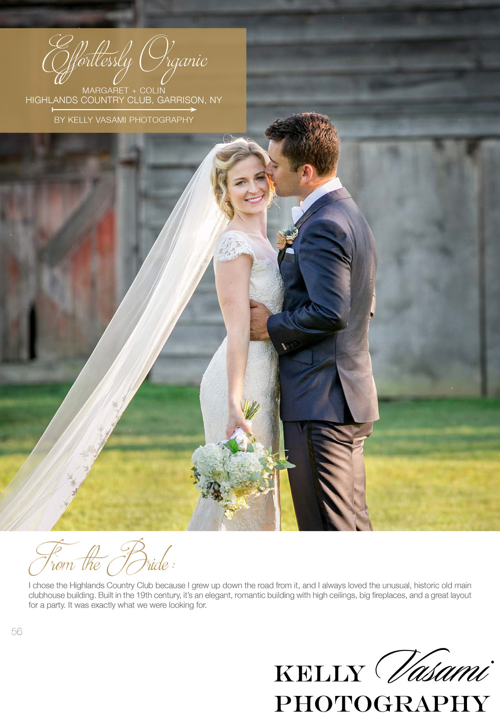 magazine published wedding highlands country club