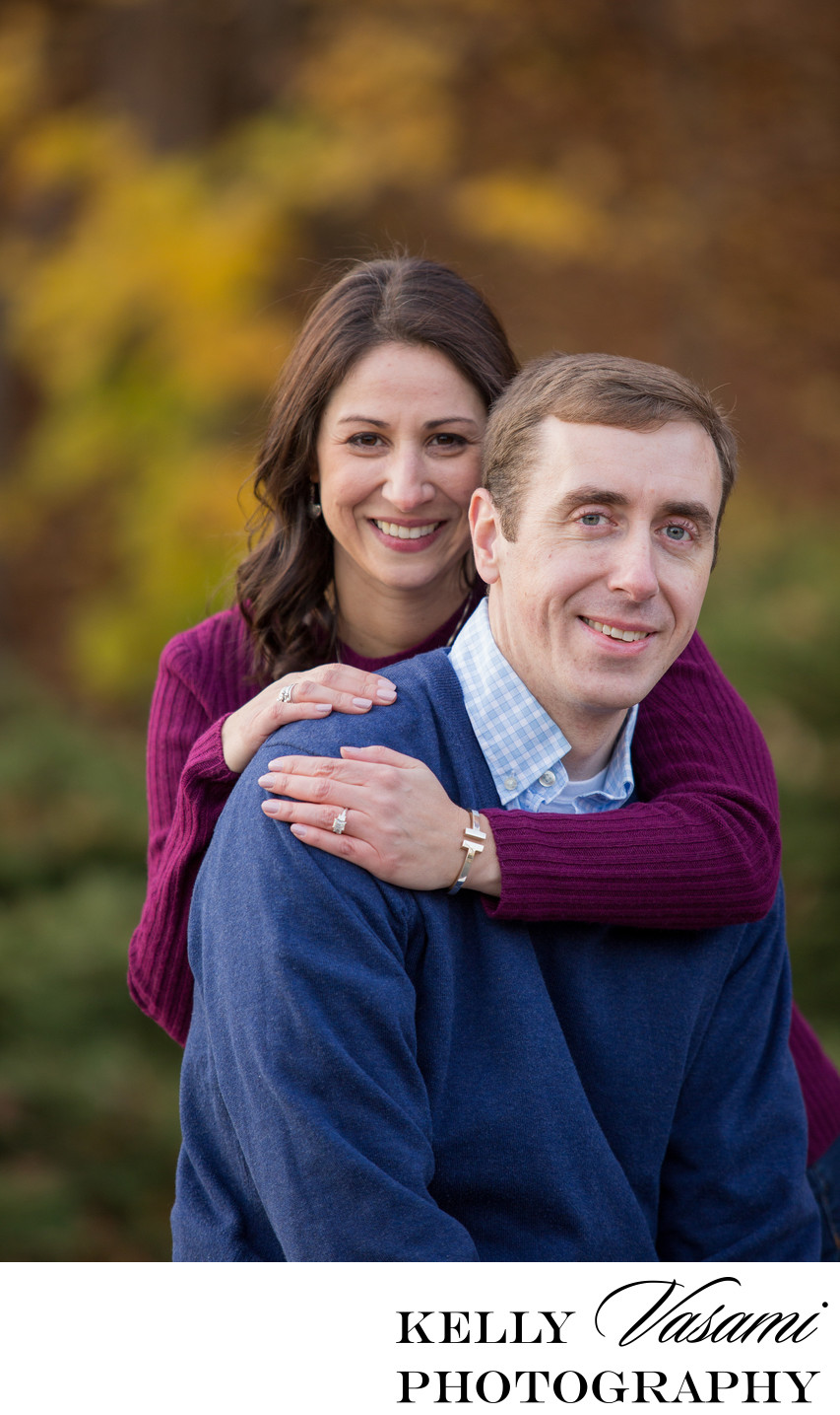 Colorful Autumn Engagement Session in Connecticut