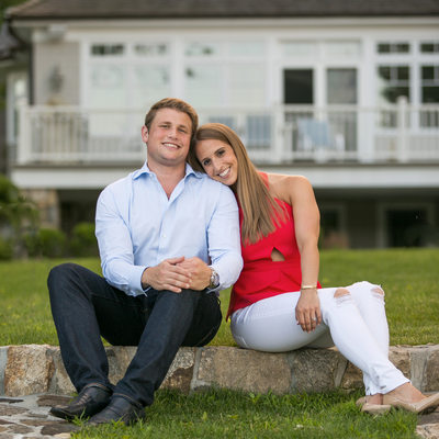 waterside summer engagement session westchester NY