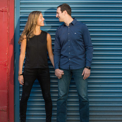 chelsea piers engagement session NYC manhattan couple