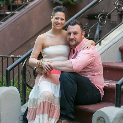 Manhattan Brownstone Steps | Engagement Session | NYC