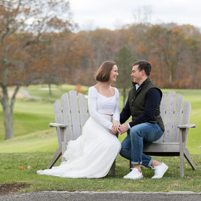 Golf Course / CT Country Club Engagement Session