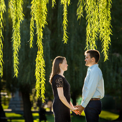 Weeping Willow Branches | Engagement Session