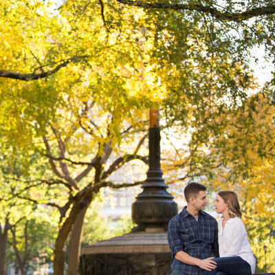 Union Square Park Engagement Session Photos