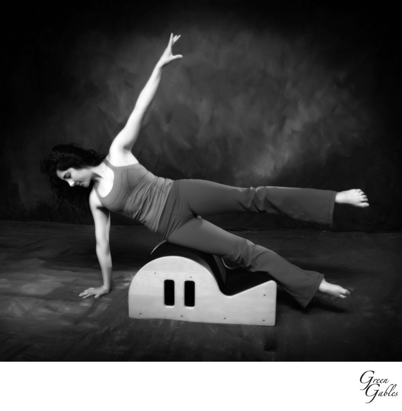 Yoga model in Studio