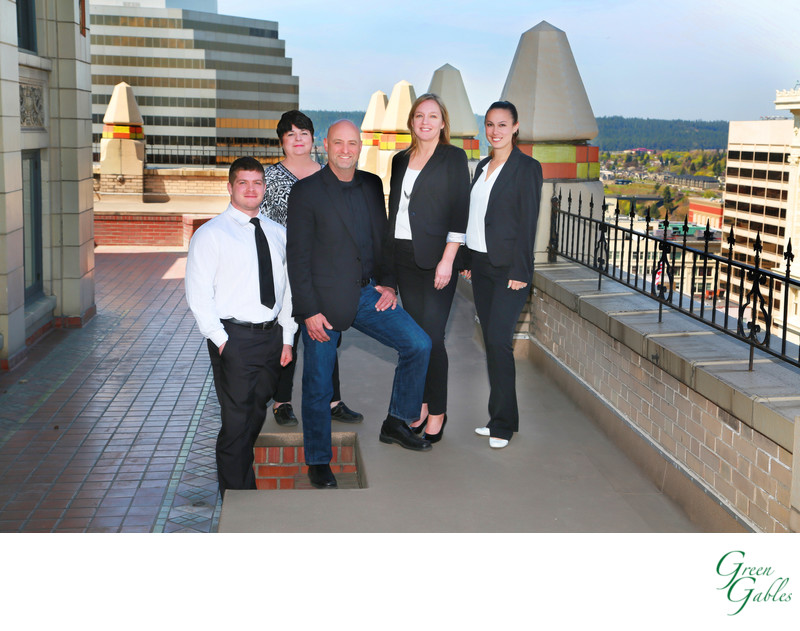 Staff photos on location, Paulson building Spokane