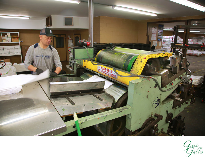 Action photo of printing press