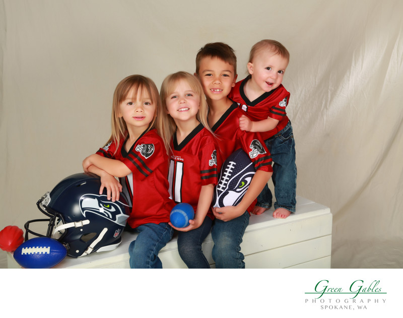 the grandkids and football
