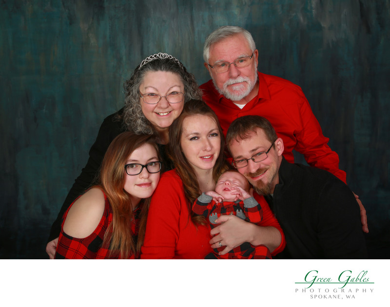 fun family portrait in studio