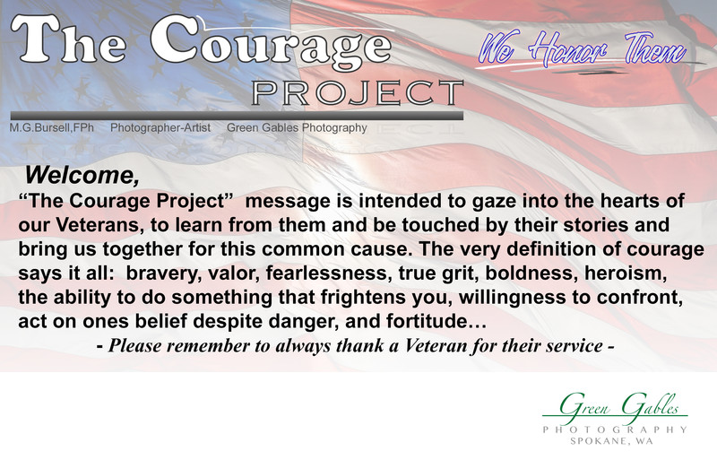 US Military Veteran, The Courage Project