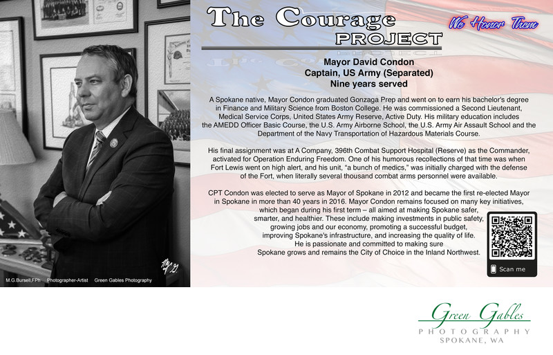 US Army Veteran, Captain, Mayor David Condon