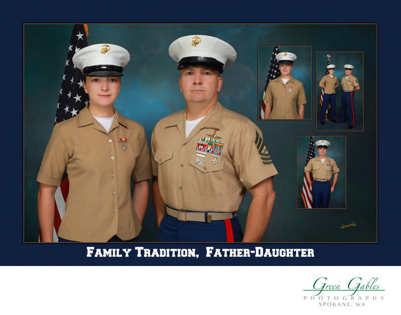 Father-Daughter-Studio-Marines-Family Tradition-Spokane
