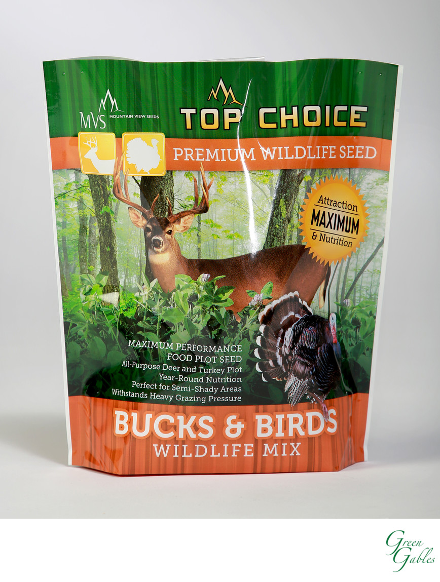 Top Choice Wildlife Seed mix, Justus Bag Co.