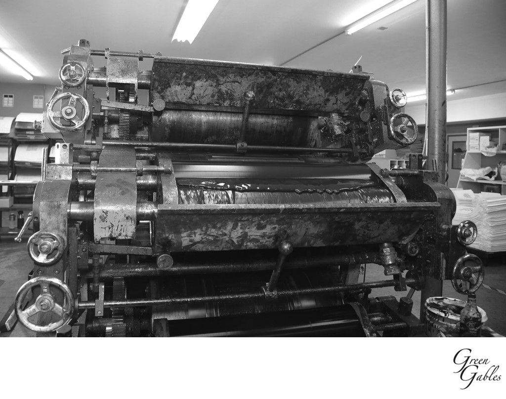 Printing press, Justus Bag Company Spokane, WA