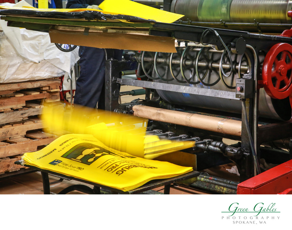 working printing press, Justus Bag Co. in Portland