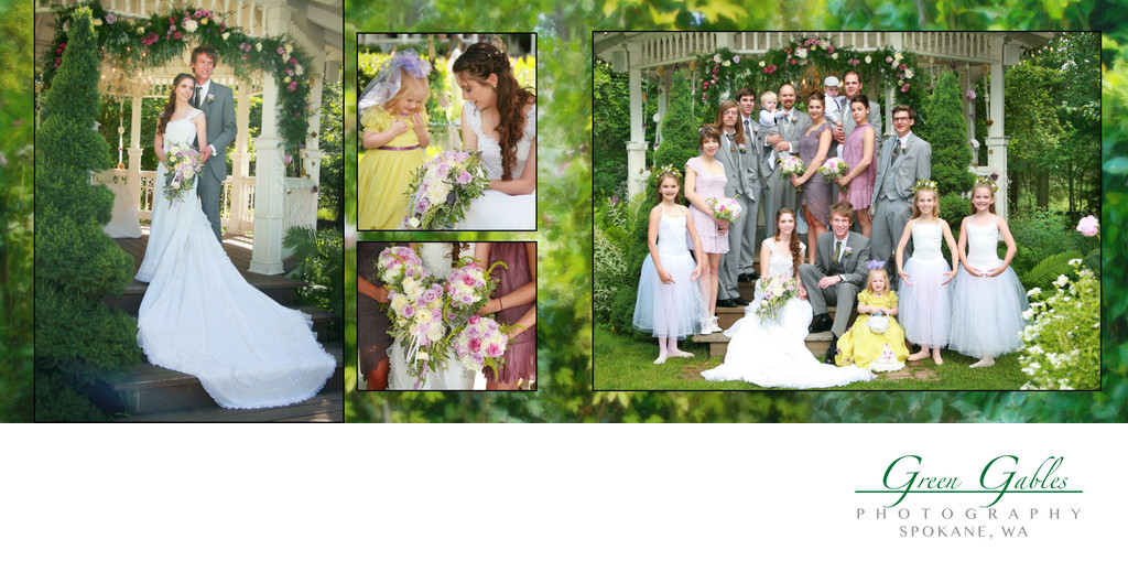 wedding party collage'