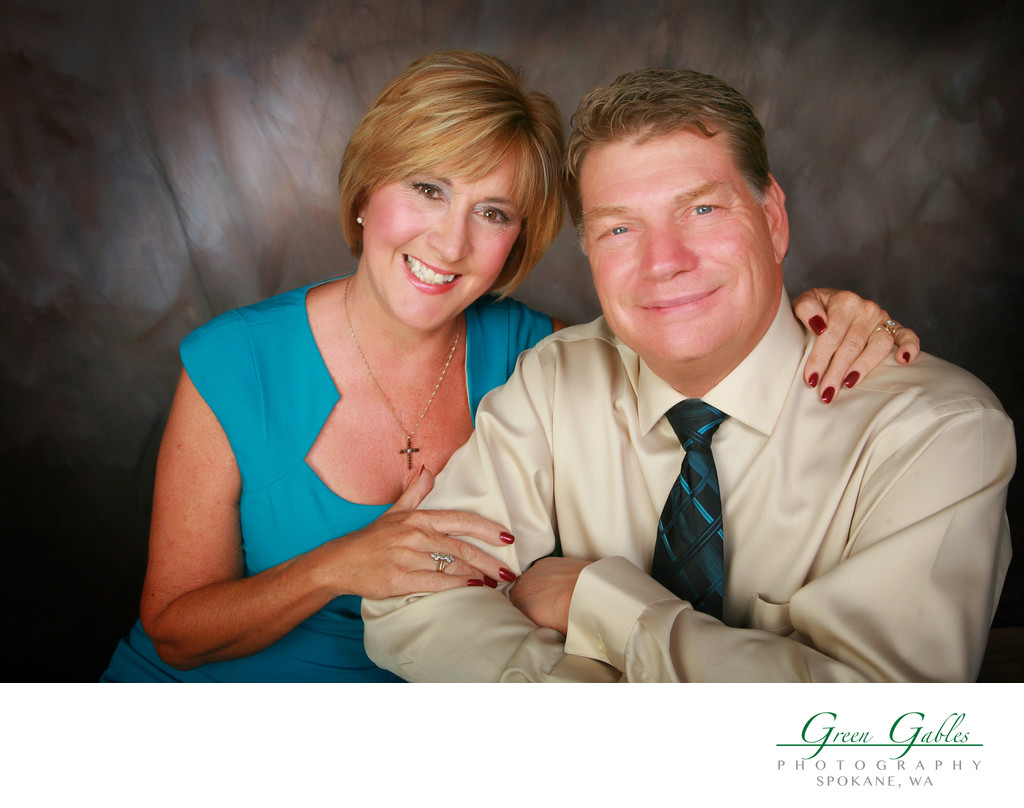 couples portraits in studio
