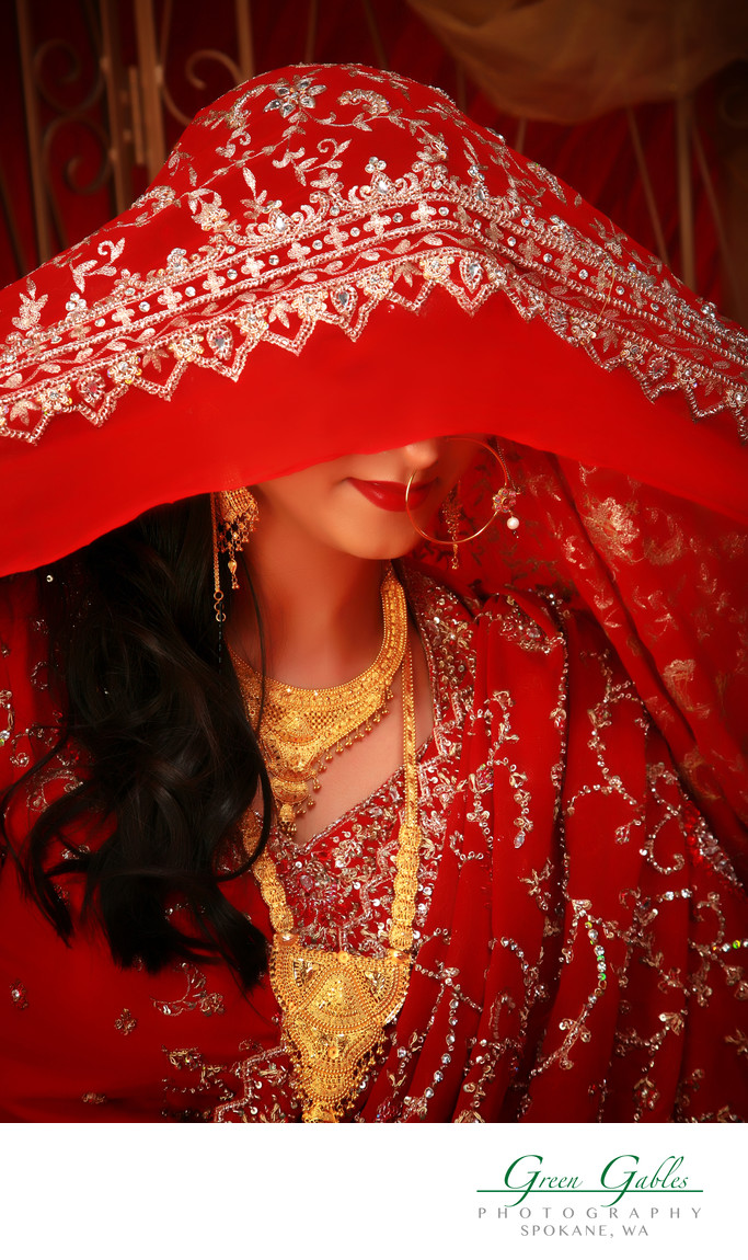 bridal dramatic in studio