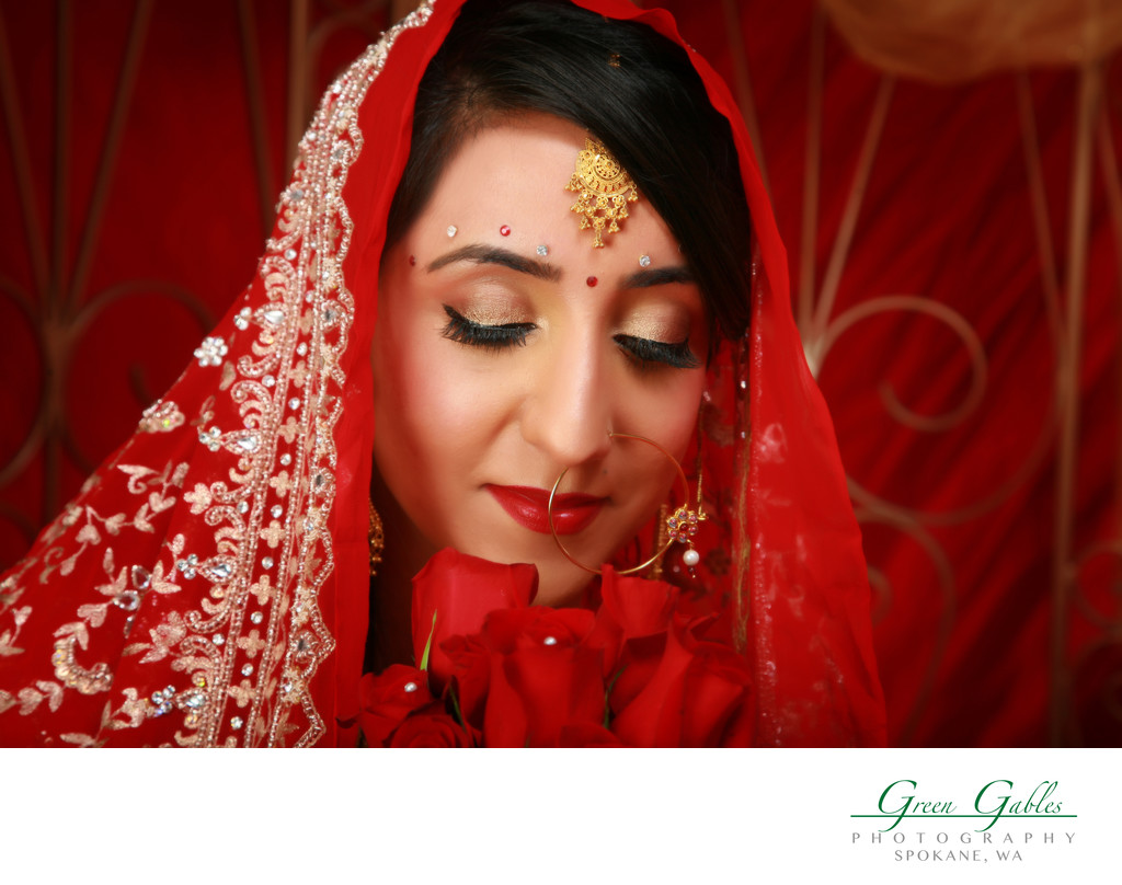 beautiful bride in ethnic attire