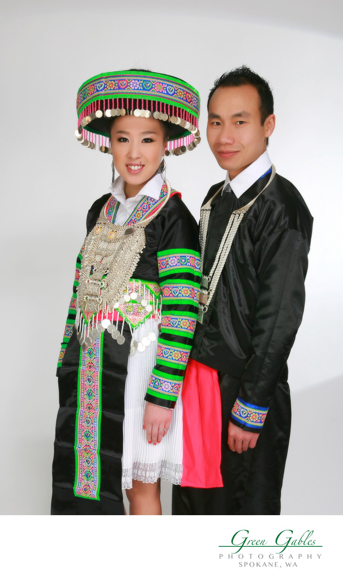 ethnic portrait of young couple