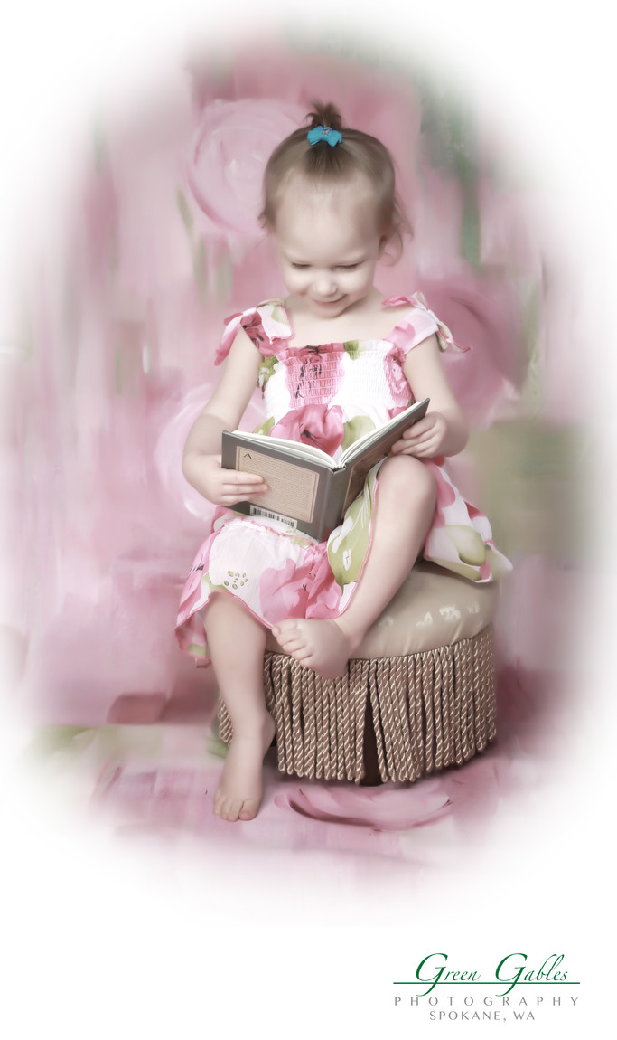 I love this book, little girl having fun