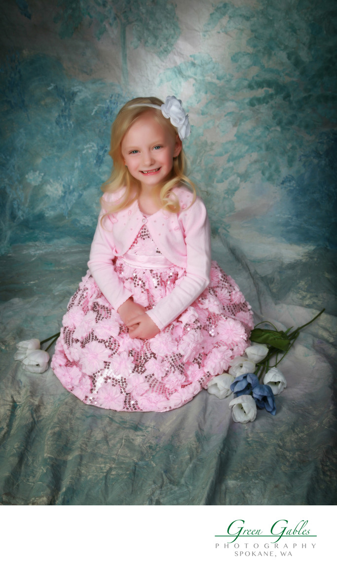 pretty in pink Easter portrait