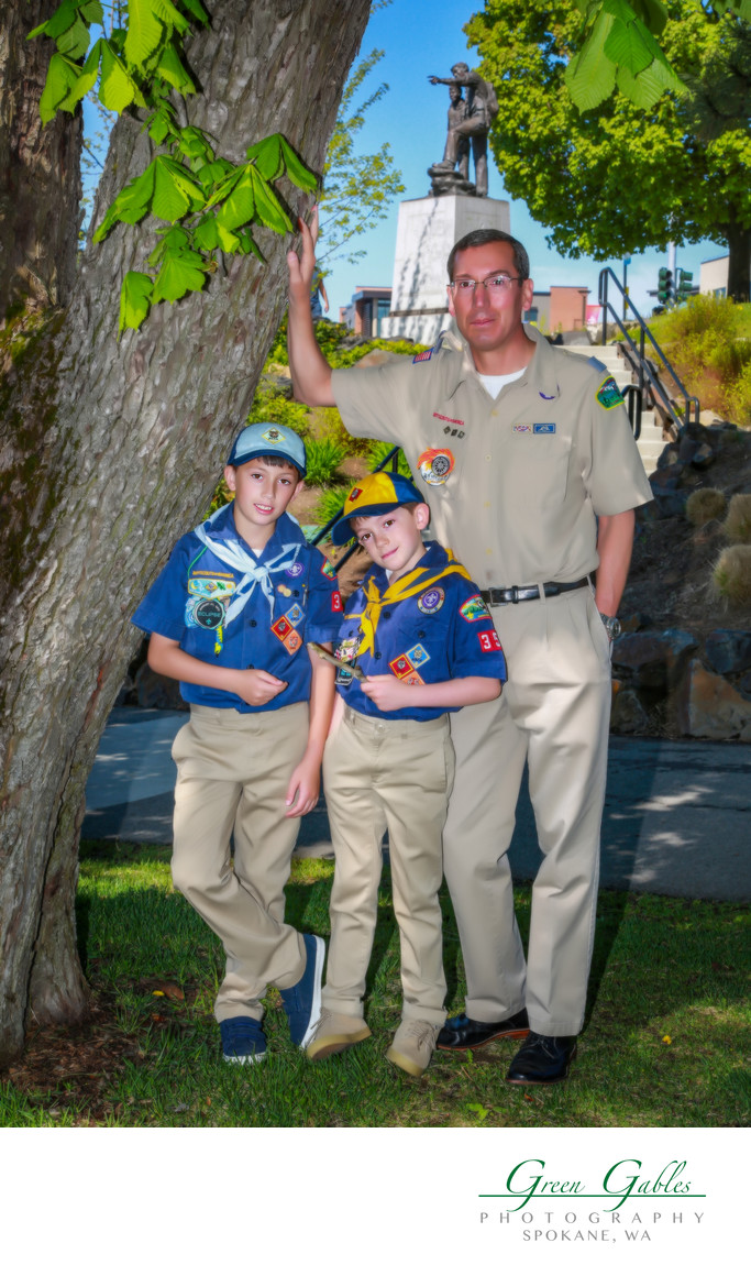 Scouts-father and two sons