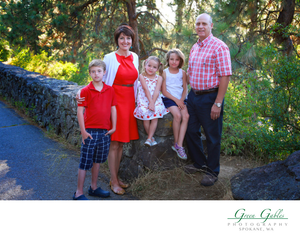 family photos, outside, manito park, spokane