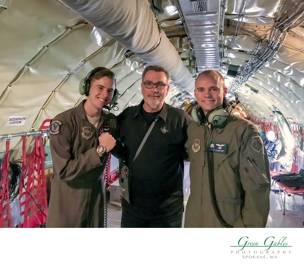 Fairchild Air Force Base-KC 135 Refueling Flight-Myron with Crew