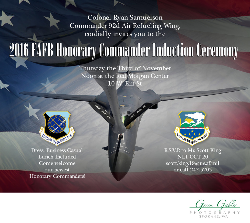 Honorary Commander Induction-Myron Fairchild AFB