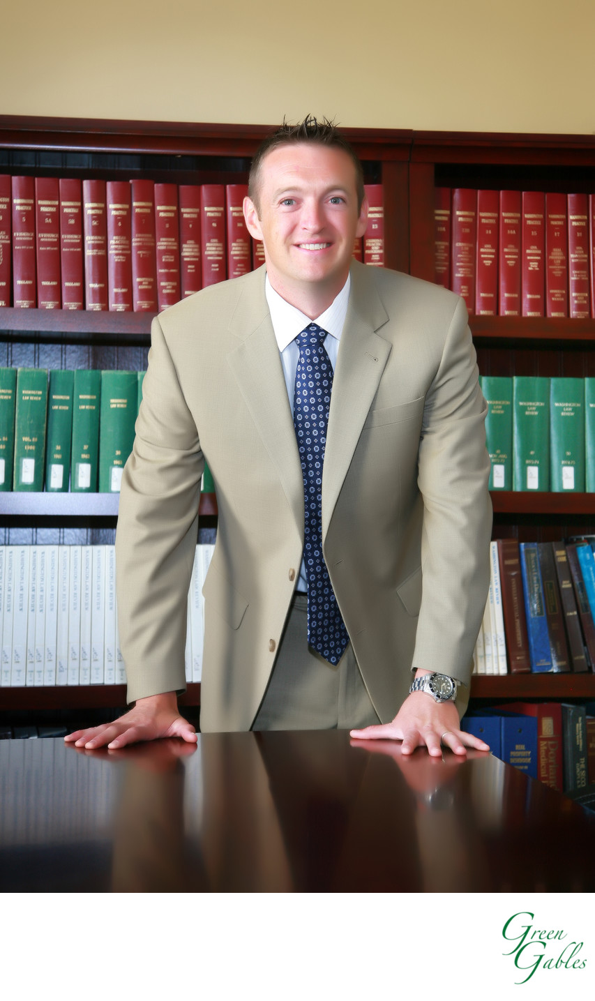 Attorney in his office