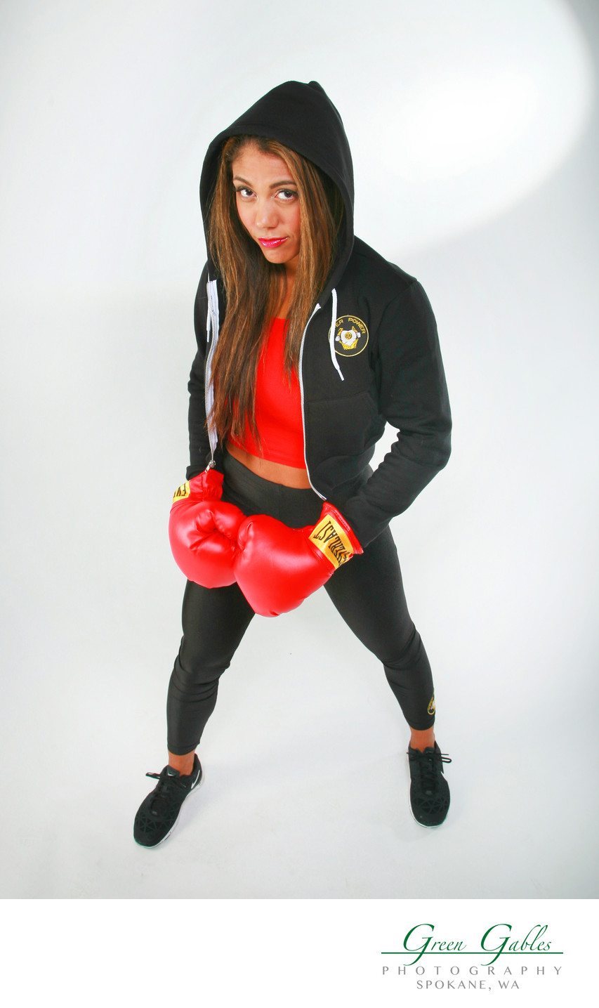 Female boxer and model