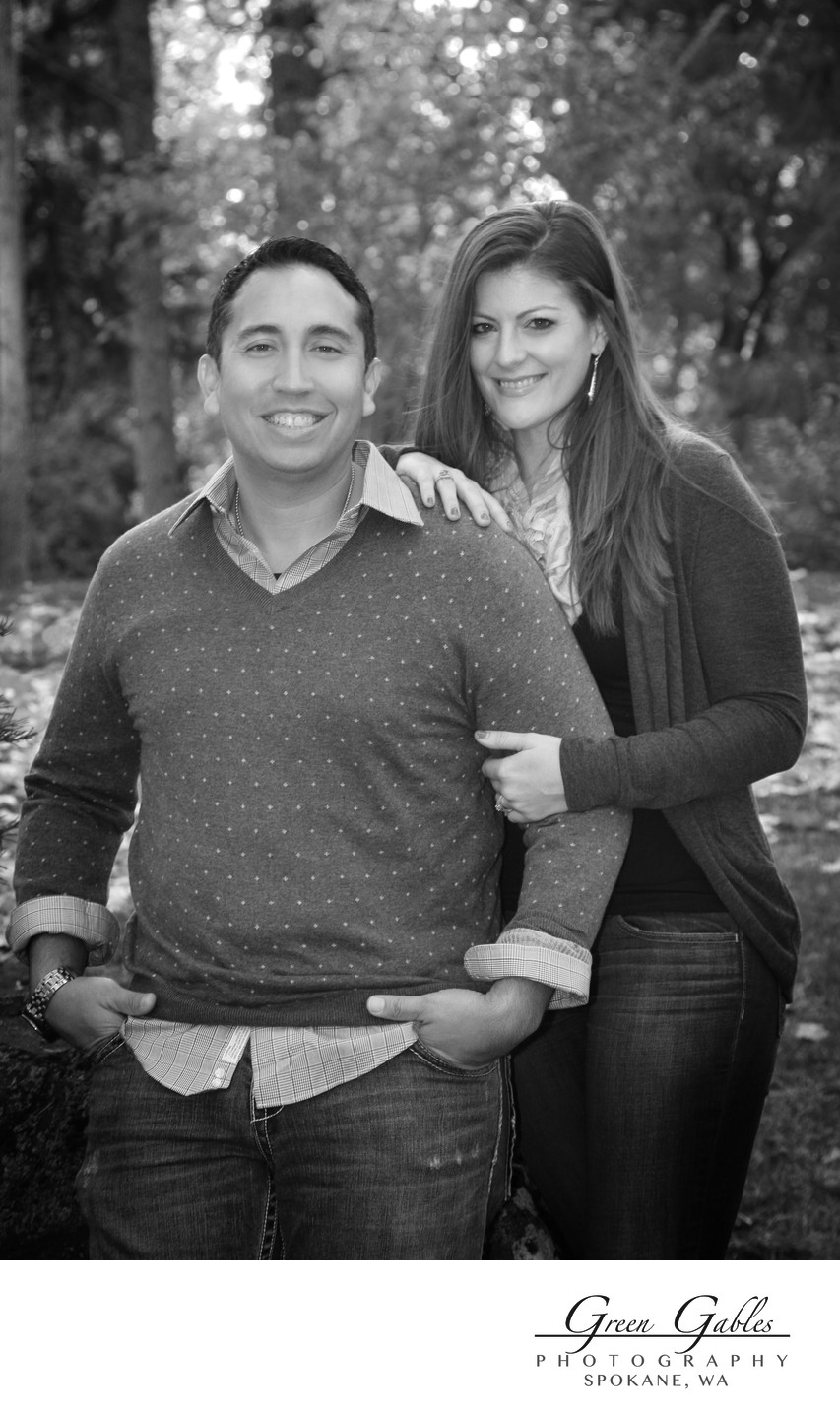 couple on location at Manito Park