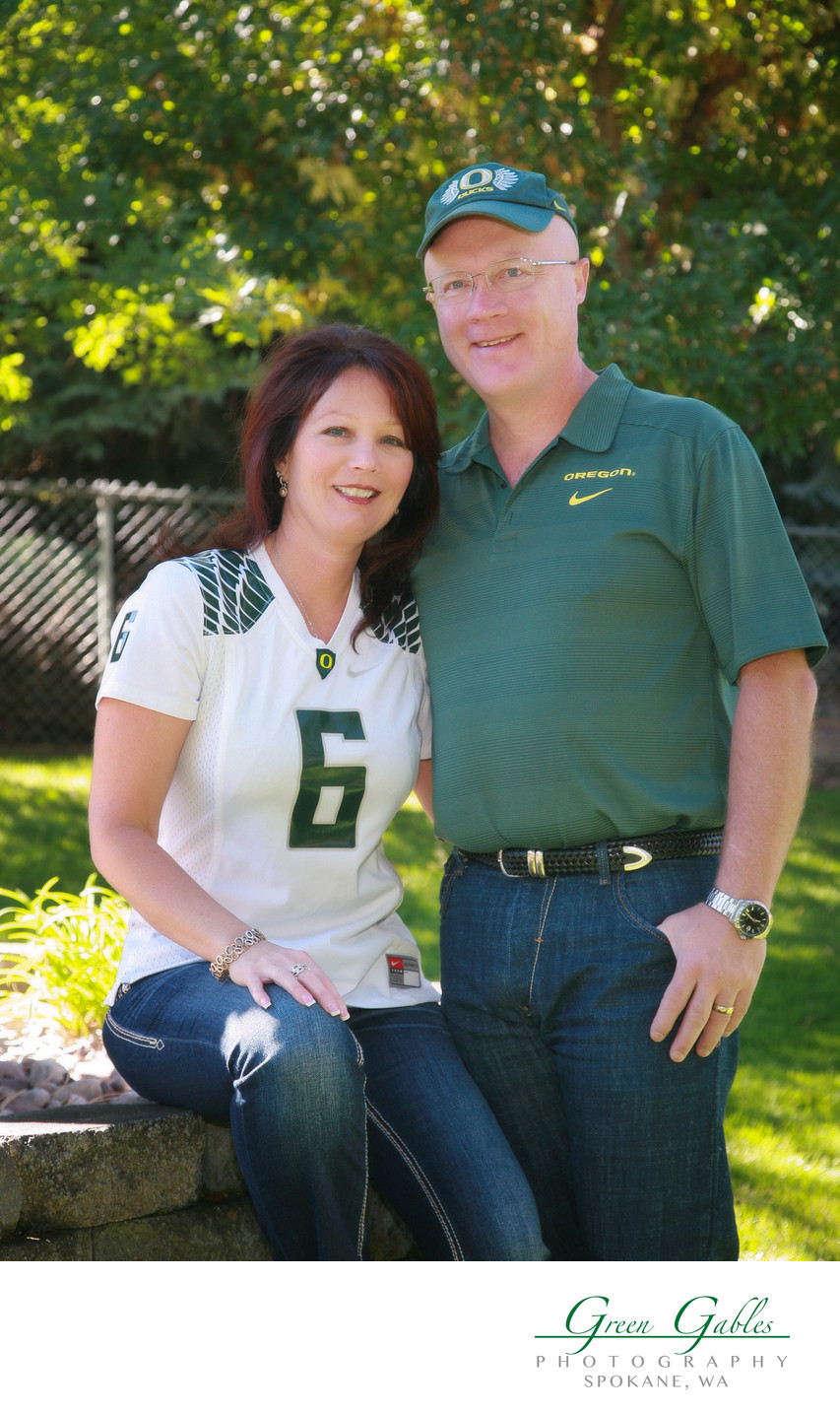 couples portrait at home and go ducks