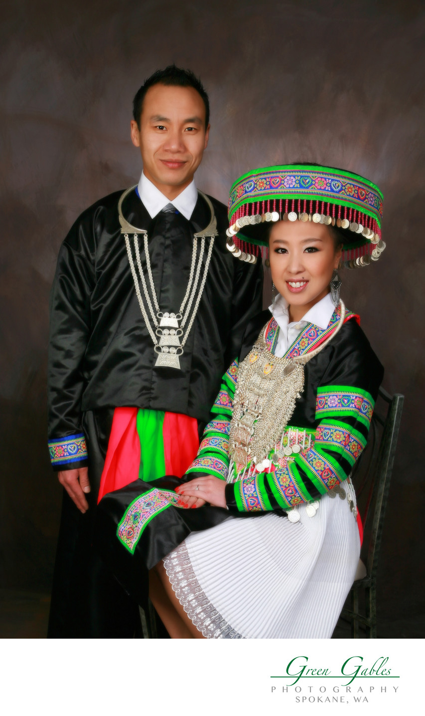 young couple in ethnic attire