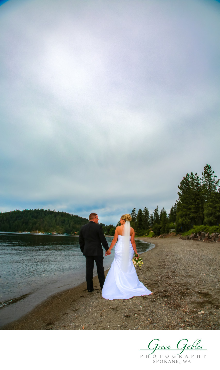 Coeur d' Alene Resort, destination wedding, beach