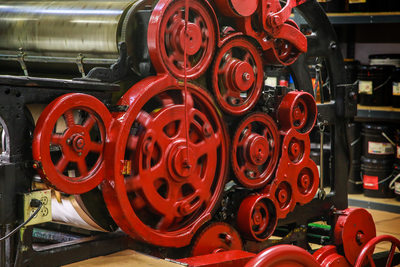 Justus Bag Co.Portland OR, printing press gears