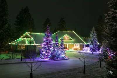 Senske Christmas Lighting, Spokane Valley