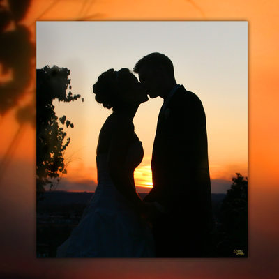 Sunset at Beacon Hill, Bride & Groom kissing