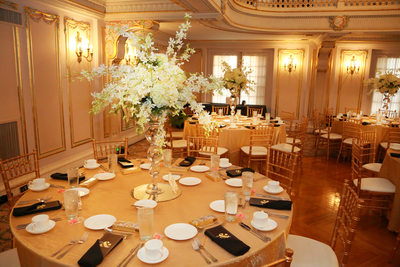 reception setup in the Marie Antoinette Room