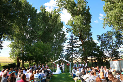 location home wedding ceremony