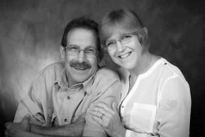 couples portrait in black and white