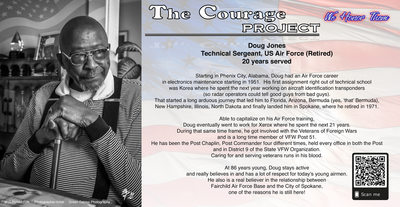US Air Force Veteran, TSgt. Doug Jones