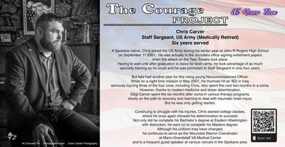 US Army Veteran, SSgt. Chris Carver