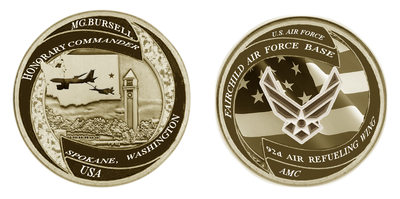 Fairchild AFB-Myron Honorary CMD Challenge Coin-Spokane