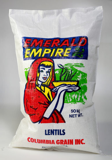 Columbia Grain's Emerald Empire Lentils, Justus Bag Co.